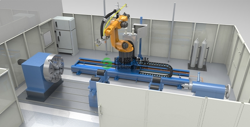 机器人八轴联动加工系统