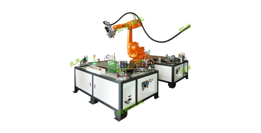 机器人双工位加工系统