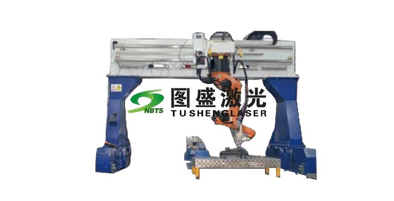 倒挂机器人7轴加工系统